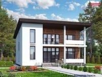 Проект стильного дома с односкатной кровлей 483А «Сезанн», 176 м2, 3(4) спальни,
