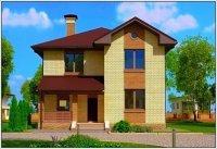 """Проект дома из пеноблоков с двумя входами - """"Хьюстон"""""""