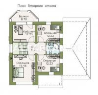 """973B""""Стелла""""- проект стильного дома с гаражом для маленького участка"""