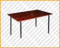 Стол на металлокаркасе обеденный крышка ЛДСП 16 мм, кромка ПВХ 0,4 мм 700×700 'СО-3'