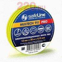 Изолента 19/20 желто-зеленый, Safeline - SL-12123