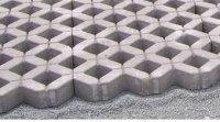 Газонная бетонная решетка 1РД10 *600х400х100.