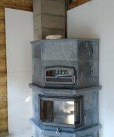 Монтаж керамического дымохода одноходового с вентиляционным каналом диаметром от 80 мм до 200 мм включительно.