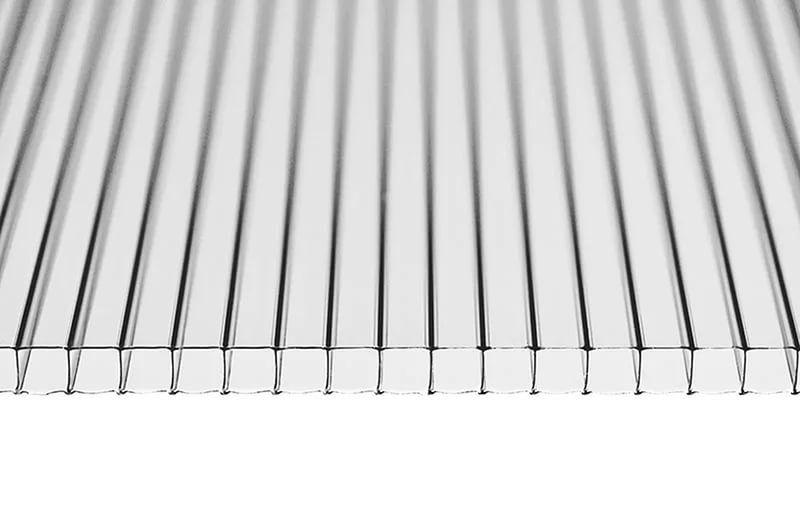 Сотовый поликарбонат 10 мм. прозрачный