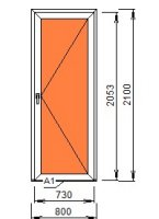 Дверь межкомнатная ПВХ 800*2100 (24 мм)