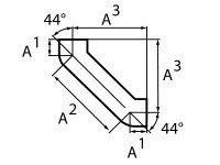 Колено, 88°, 100, чугун, двойное, с успокоительным участком