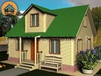 "Каркасный дом 6x9 м. проект: ""Борисова Грива"""