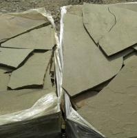 Натуральный камень пластушка песчаник серо-зеленый природный