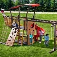 ДЕТСКИЕ ПЛОЩАДКИ Купить игровой комплекс для дачи Деревянные городки фото