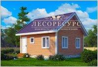 """Одноэтажный дом из бруса - """"Заринск"""""""