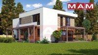 """Проект двухэтажного дома """"Альфа 15"""" из газобетона 241 кв.м., 17.5 X 9.9"""