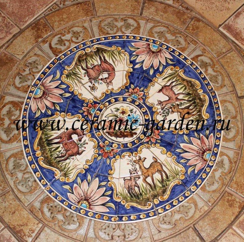 керамические панно для  потолка