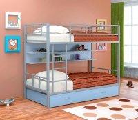 Двухъярусная кровать Севилья 2 ПЯ (Цвет-Серый/Голубой)