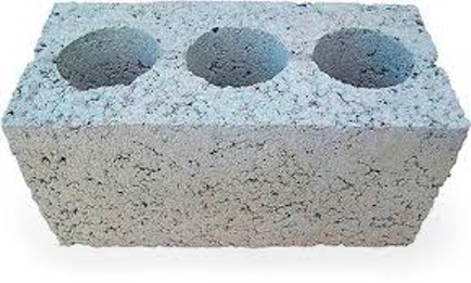 Блок керамзитобетонный 3-х пустотный стеновой 400х200х200 мм