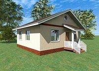 """Одноэтажный жилой дом """"Дачник"""" 58м2"""