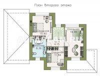 """Проект 526B """"Невский стиль"""" - удобный и красивый двухэтажный дом с гаражом"""
