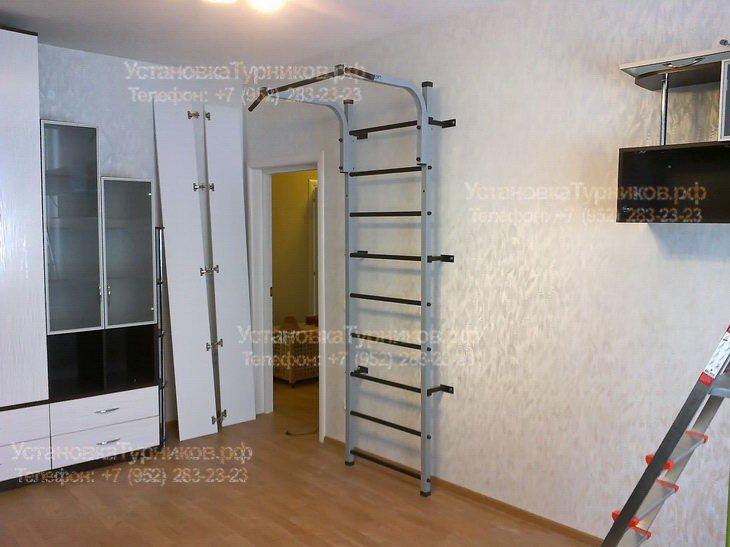 Сборка и установка металлической шведской стенки в Санкт-Петербурге