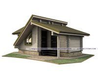 Садовый дом или баня из оцилиндрованного бревна