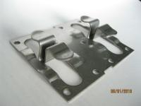 Кляммер рядовой нерж AISI201 1,2мм 10мм RAL