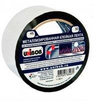 Лента клейкая металлизированная 48 мм х 50 м UNIBOB