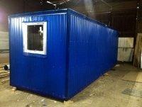 Блок - контейнер с синим профлистом