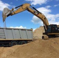 Песок карьерный строительный на самовывоз/доставка