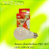 Лампа светодиодная PRE A60 LED 15W 6K E27