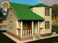 """Каркасный дом 7x7 м. проект: """"Дунай"""""""