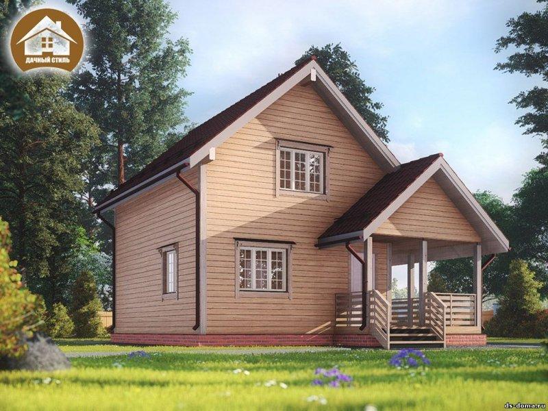 """Дом из бруса 8x8.5 м. """"Лебяжье"""""""