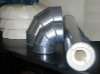 Скорлупа ППУ с покрытием из оцинкованной стали (кожух оцинкованный)