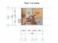 Дом из бруса с мансардой 6х6  террасой 2х6