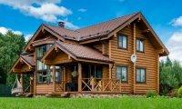 Дома и бани под ключ из оцилиндрованного бревна (Ангарская сосна и Сибирская лиственница)