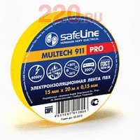 Изолента 19/20 желтый, Safeline - SL-9367