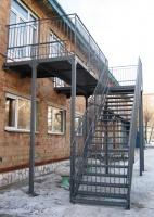 Проект, изготовлеие и монтаж маршевой лестницы