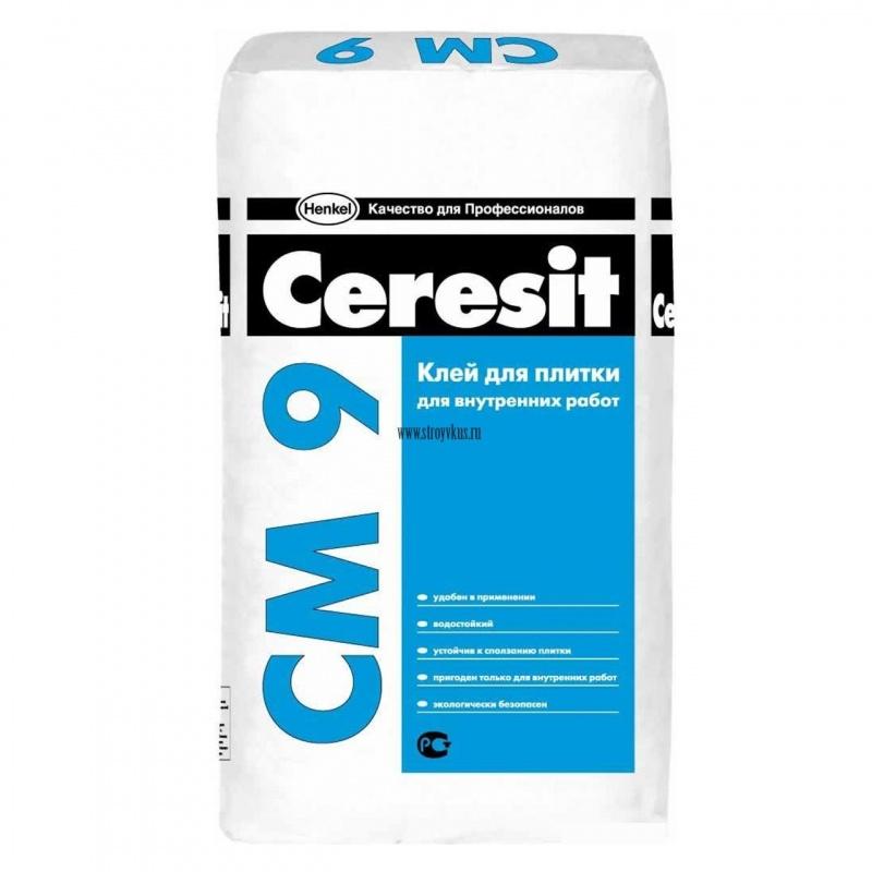 Клей для плитки Ceresit CM 9 Plus