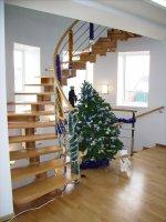 Лестницы винтовые из натурального дерева - изготовление, продажа
