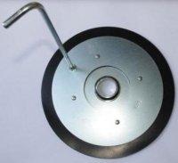 Стальная крышка-пресс для заправки герметиком из ведра монтажного пистолета