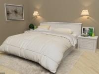 Кровать с подъемным механизмом серии КЛАССИКА из эмалевого МДФ  с фрезеровкой
