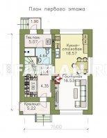 """Проект дома 403A """"Серебро"""" - современный экономичный дом для небольшой семьи"""