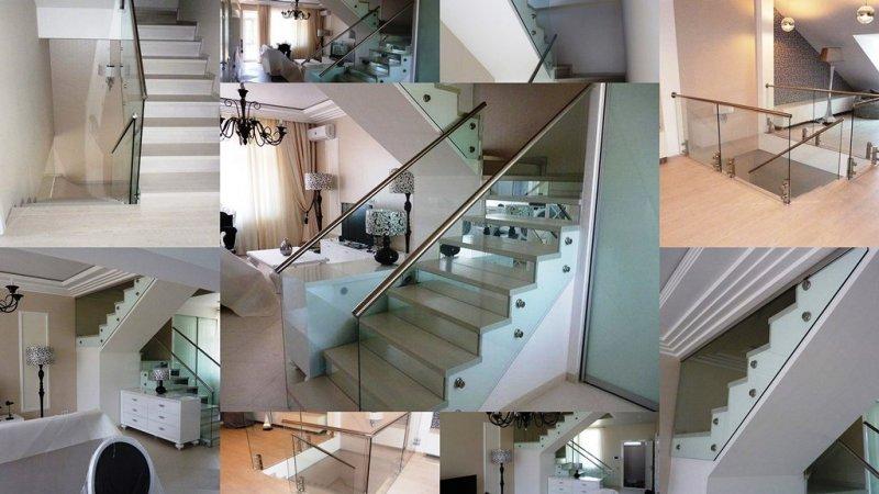 Стеклянные перила и ограждения лестниц