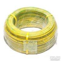 Провод ПуГВ 1х6,0 кв. мм желто-зеленый ГОСТ (Брэкс Брянск) нал\безнал