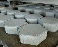 Тротуарная плитка «Шестигранник» * 200х200х60 (цвет серый).