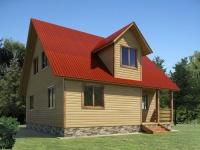 Проект дома из бруса ОД-16 (8х8)