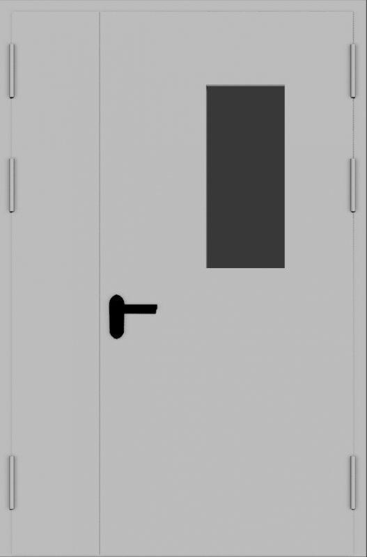 Противопожарные двери с остеклением
