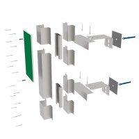 Подсистемы вентилируемых фасадов для фиброцемента (АЛЬФА-Фиброцемент)
