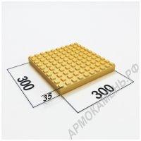 Тактильная плитка бетонная 300x300x35 мм