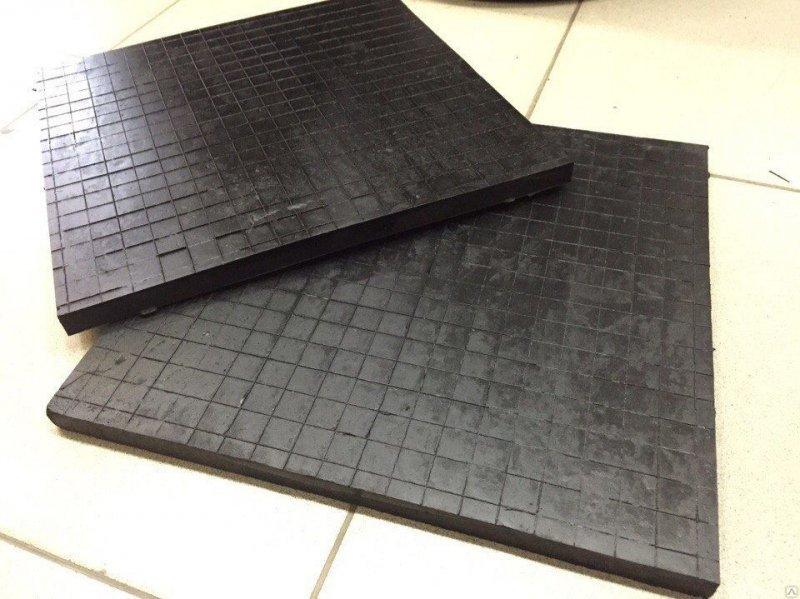 Резиновая плита для складских помещений 500х500х25мм 175руб/шт