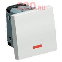 Выключатель с подсветкой 45х45 мм (схема 1L) 16 A, 250 B (белый) LK45 - 850904