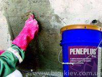 Пенеплаг-остановка напорной течи (гидропломба)