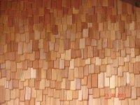 Деревянная черепица из колотой лиственницы, гонт, дранка L=300мм